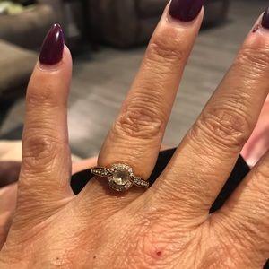 Levian Ring. rose gold chocolate sapphire diamond